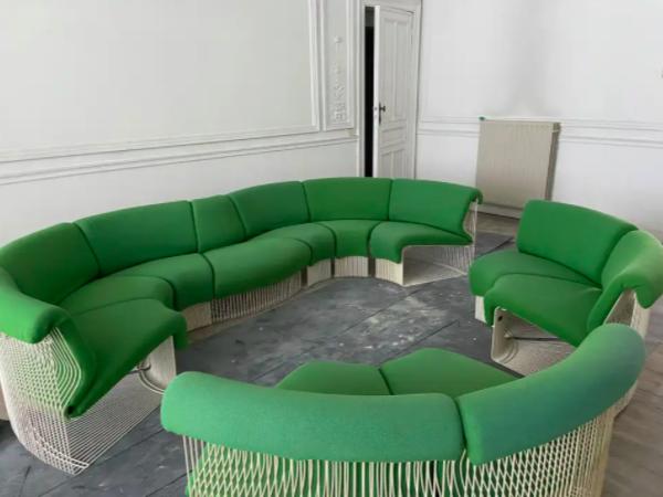 Pantonova Sofa Modules Set, Verner Panton Produced by Fritz Hansen, circa 1975